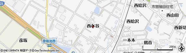 愛知県豊橋市植田町(西ケ谷)周辺の地図