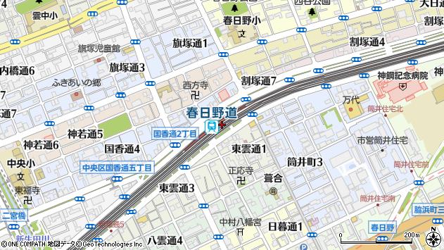 〒651-0091 兵庫県神戸市中央区若菜通の地図