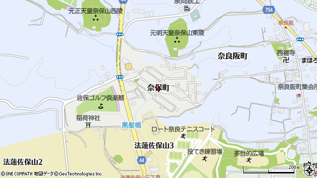 〒630-8107 奈良県奈良市奈保町の地図