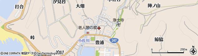 愛知県南知多町(知多郡)豊浜(小佐郷)周辺の地図