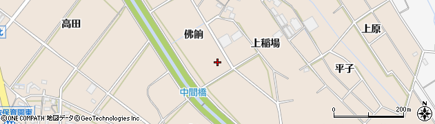 愛知県豊橋市野依町(佛餉)周辺の地図