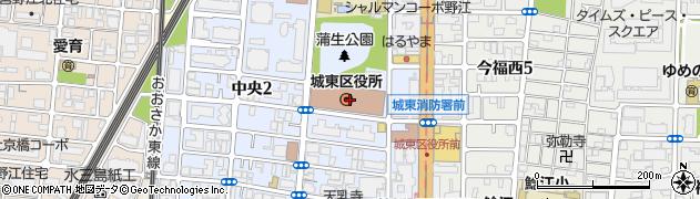 大阪府大阪市城東区周辺の地図