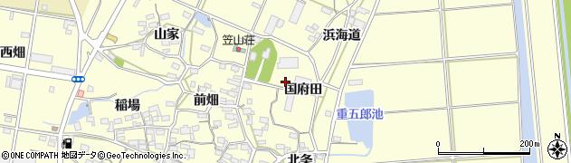 愛知県田原市浦町(国府田)周辺の地図