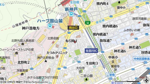 〒651-0092 兵庫県神戸市中央区生田町の地図