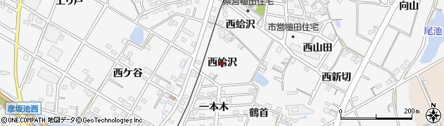 愛知県豊橋市植田町(西蛤沢)周辺の地図