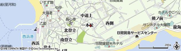 愛知県南知多町(知多郡)日間賀島(一本松)周辺の地図