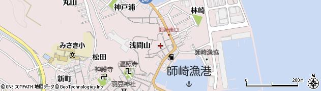 愛知県南知多町(知多郡)師崎(荒井)周辺の地図