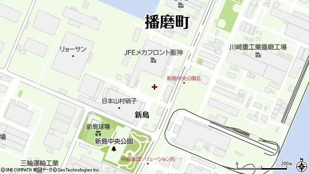 〒675-0155 兵庫県加古郡播磨町新島の地図