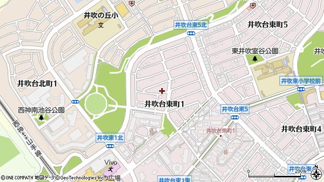 〒651-2242 兵庫県神戸市西区井吹台東町の地図