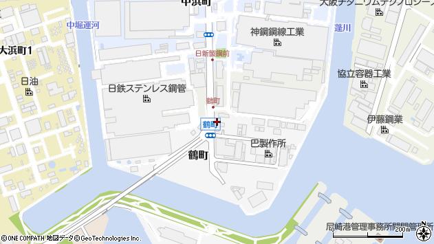 〒660-0092 兵庫県尼崎市鶴町の地図