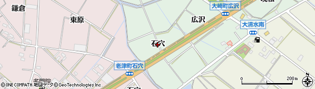 愛知県豊橋市大崎町(石穴)周辺の地図