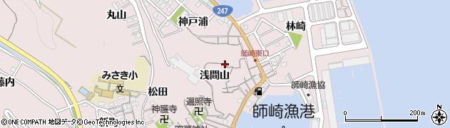愛知県南知多町(知多郡)師崎周辺の地図