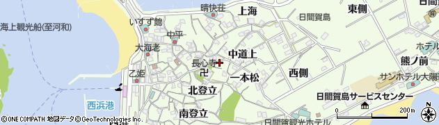 愛知県南知多町(知多郡)日間賀島(高野谷)周辺の地図