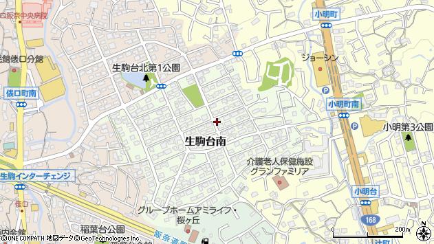 〒630-0202 奈良県生駒市生駒台南の地図