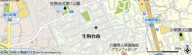 奈良県生駒市生駒台南周辺の地図