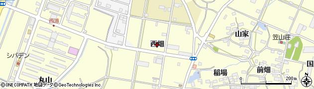愛知県田原市浦町(西畑)周辺の地図