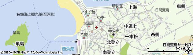 愛知県南知多町(知多郡)日間賀島(新井浜)周辺の地図