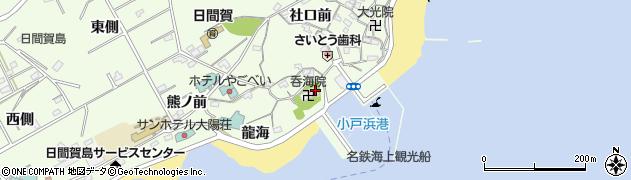 呑海院周辺の地図