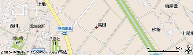 愛知県豊橋市野依町(高田)周辺の地図