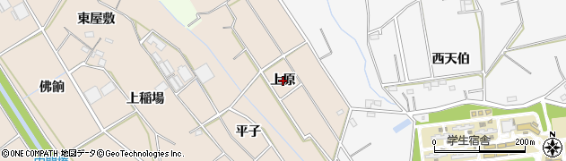 愛知県豊橋市野依町(上原)周辺の地図