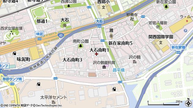 〒657-0852 兵庫県神戸市灘区大石南町の地図