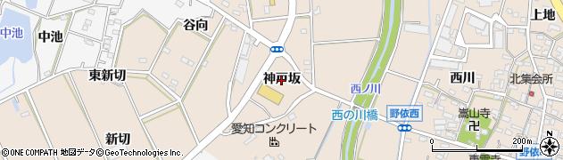愛知県豊橋市野依町(神戸坂)周辺の地図