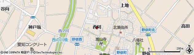愛知県豊橋市野依町(西川)周辺の地図