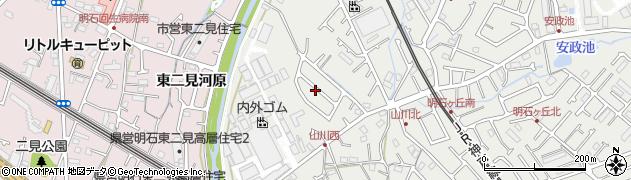兵庫県明石市魚住町西岡石塚周辺の地図