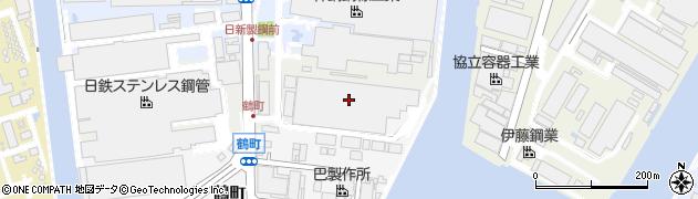 兵庫県尼崎市中浜新田(南東ノ切)周辺の地図