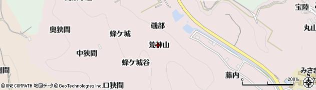 愛知県南知多町(知多郡)師崎(荒神山)周辺の地図