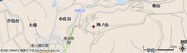愛知県南知多町(知多郡)豊浜(陣ノ山)周辺の地図