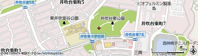 兵庫県神戸市西区井吹台東町周辺の地図