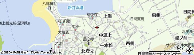 愛知県南知多町(知多郡)日間賀島(中道下)周辺の地図