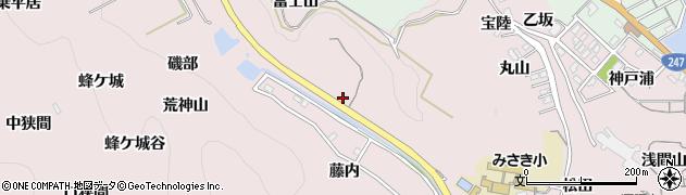 愛知県南知多町(知多郡)師崎(富士山)周辺の地図