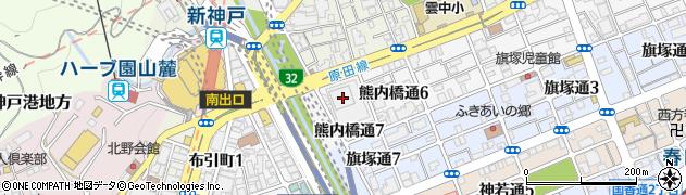 神戸芸術センターレジデンス周辺の地図