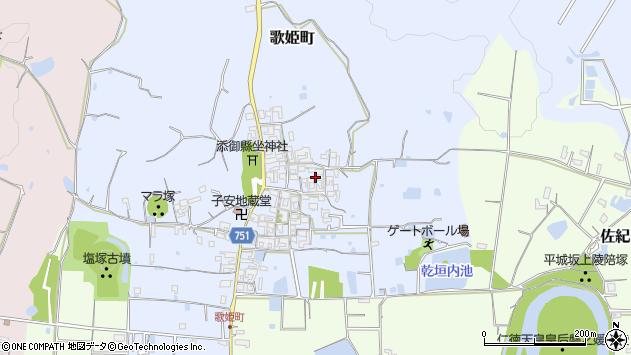 〒631-0802 奈良県奈良市歌姫町の地図