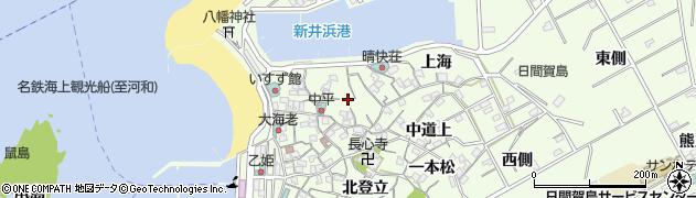 愛知県南知多町(知多郡)日間賀島(小谷)周辺の地図