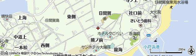 愛知県南知多町(知多郡)日間賀島(山神西)周辺の地図