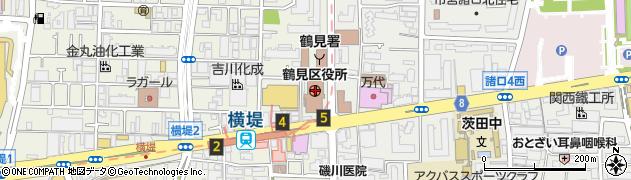 大阪府大阪市鶴見区周辺の地図