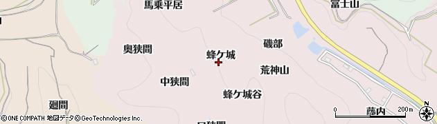 愛知県南知多町(知多郡)師崎(蜂ケ城)周辺の地図