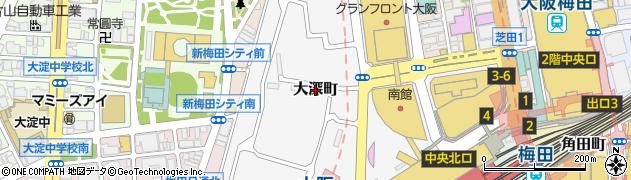 大阪府大阪市北区大深町周辺の地図
