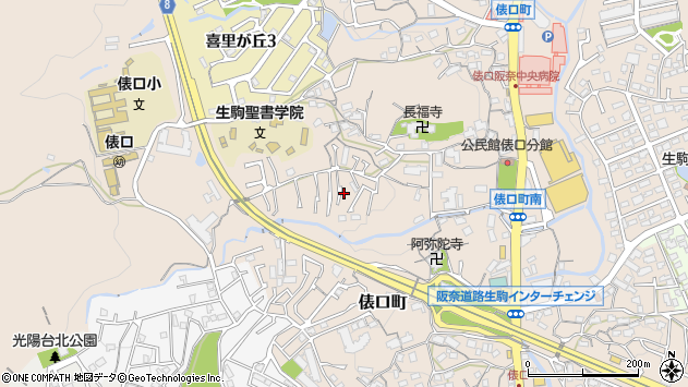 〒630-0243 奈良県生駒市俵口町の地図