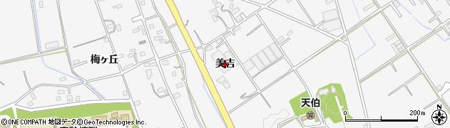 愛知県豊橋市天伯町(美吉)周辺の地図
