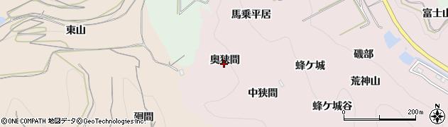 愛知県南知多町(知多郡)師崎(奥狭間)周辺の地図