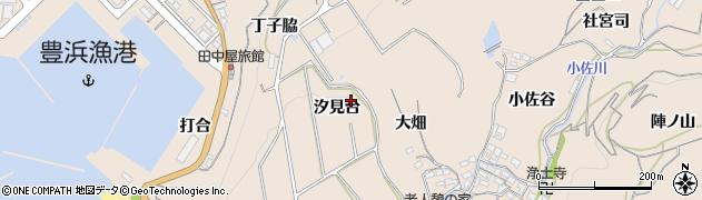 愛知県南知多町(知多郡)豊浜(汐見台)周辺の地図