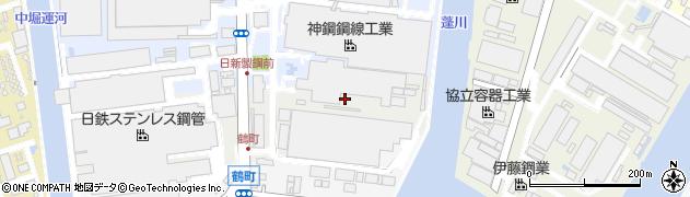 兵庫県尼崎市中浜新田(中東ノ切)周辺の地図