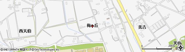 愛知県豊橋市天伯町(梅ヶ丘)周辺の地図
