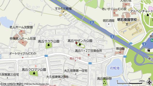 〒674-0057 兵庫県明石市大久保町高丘の地図