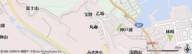愛知県南知多町(知多郡)師崎(丸山)周辺の地図
