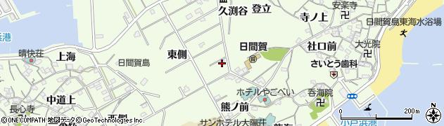 愛知県南知多町(知多郡)日間賀島(東側)周辺の地図